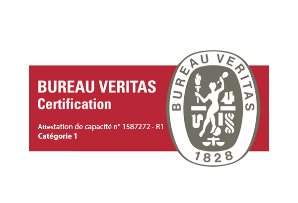 Logo certification Veritas attestation catégorie 1
