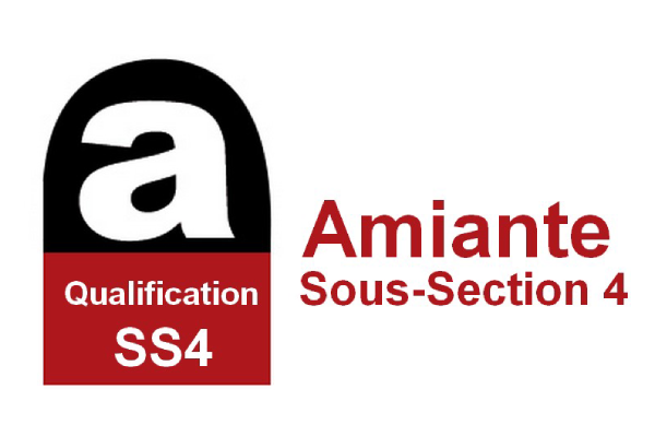 Logo certificat Amiante Sous Section 4